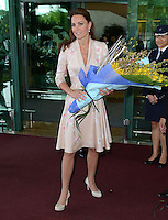The Duke and Duchess of Cambridge arrive at Singapore Airport, Singapore, on the first day of their Diamond Jubilee Tour of South East Asia, on the 12th September 2012<br />