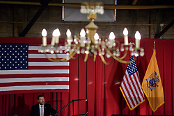 Presumptive GOP nominee Donald Trump attends a fundraising event with NJ Gov. Chris Christie at Lawrenceville National Guard Armory in Lawrence Township, NJ