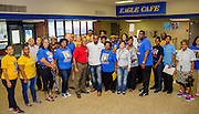 Houston mayor Sylvester Turner joins volunteers during Grads Within Reach in the Washington High School community, September 10, 2016.