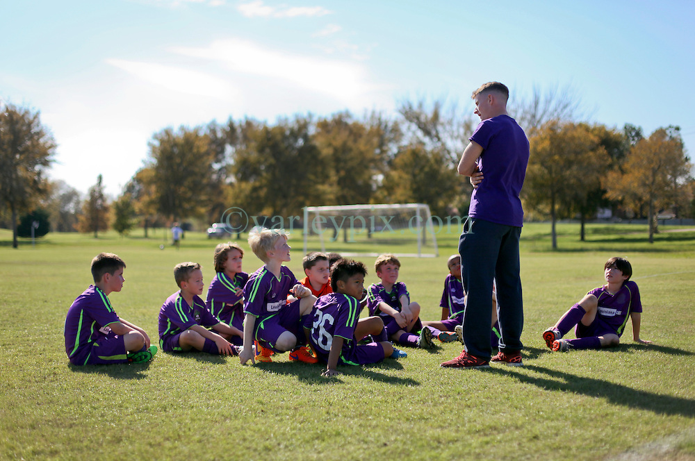 06 December 2015. Missouri City, Texas. <br /> Eclipse Soccer Club, 8th Annual Academy Cup - Toby Lazor Classic.<br /> New Orleans Jesters Youth Academy U10 Purple v ID Chelsea 06B. 2nd game.<br /> Chelsea win 4-0. <br /> End of the tournament.<br /> Photo©; Charlie Varley/varleypix.com