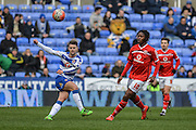 A long pass from Reading FC midfielder Oliver Norwood during the The FA Cup fourth round match between Reading and Walsall at the Madejski Stadium, Reading, England on 30 January 2016. Photo by Mark Davies.