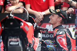 May 11, 2019 - Imola, Bologna, Italy - Chaz Davies of ARUBA.IT Racing - Ducati during the Superbike World Championship, Italian Round at Autodromo di Imola on May 11, 2019 in Imola, Italy. (Credit Image: © Emmanuele Ciancaglini/NurPhoto via ZUMA Press)