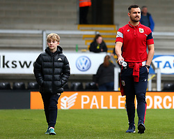 Bailey Wright of Bristol City arrives at The Pirelli Stadium for the Sky Bet Championship match with Burton Albion with a mascot - Mandatory by-line: Robbie Stephenson/JMP - 10/03/2018 - FOOTBALL - Pirelli Stadium - Burton upon Trent, England - Burton Albion v Bristol City - Sky Bet Championship