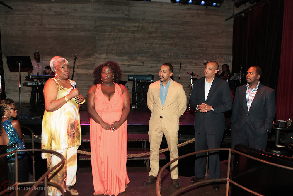 12 September 2013- Brooklyn, NY: (L-R) Mattie L. Turner, Ajile Turner Foundation, Jennifer Grady, Brooklyn Syndicate, Drs. Sampson Davis, George Jenkins and Remeck Hunt attend the Farewell to Summer 2013 Benefit Concert for the Ajile Turner Foundation held at the Galapagos Art Space on September 12, 2013 in Brooklyn, NY. ©Terrence Jennings