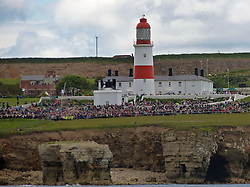 Licensed to London News Pictures. 22/06/2013.Souter Lighthouse, South Tyneside, UK, Dozens of vessels take part in Foghorn Requiem, a unique performance during the Festival of the North East which featured a specially-composed piece of music played by three brass bands, vessels participating in the music using remotely operated ships horns and the decommissioned but now restored lighthouse foghorn. Photo credit: Adrian Don/LNP