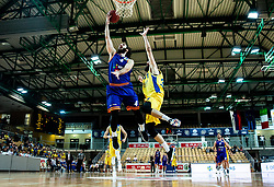Nikola Gajic of Helios Suns during basketball match between KK Hopsi Polzela and KK Helios Suns in semifinal of Spar Cup 2018/19, on February 16, 2019 in Arena Bonifika, Koper / Capodistria, Slovenia. Photo by Vid Ponikvar / Sportida