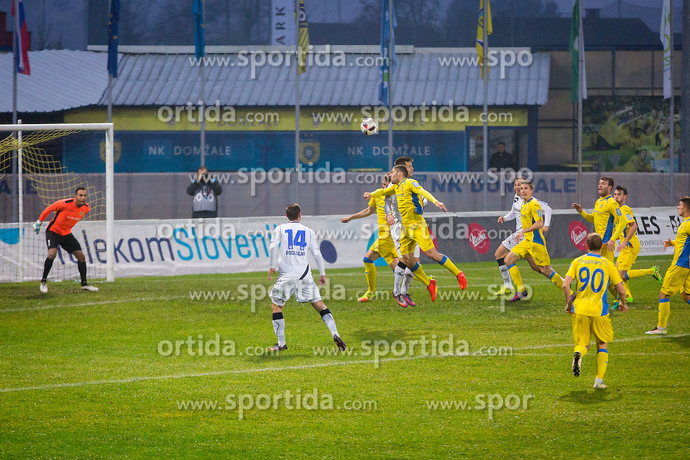 Football match between NK Domzale and NK Celje in Round #18 of Prva liga Telekom Slovenije 2016/17, on November 26, 2016 in Sports park Domzale, Slovenia. Photo by Ziga Zupan / Sportida