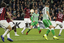 November 8, 2018 - Seville, Spain - GIOVANI LO CELSO of Betis (C) shoots during the Europa League Group F soccer match between Real Betis and AC Milan at the Benito Villamarin Stadium (Credit Image: © Daniel Gonzalez Acuna/ZUMA Wire)
