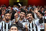 Besiktas J.K. fans before the UEFA Champions League match at the Emirates Stadium, London<br /> Picture by David Horn/Focus Images Ltd +44 7545 970036<br /> 27/08/2014