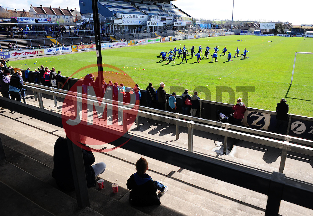 - Photo mandatory by-line: Alex James/JMP - Mobile: 07966 386802 - 31/03/2015 - SPORT - Football - Bristol - Memorial Stadium - Vanarama Football Conference - Bristol Rovers Open Training Session