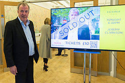 © Licensed to London News Pictures. 03/05/2016. Former Top Gear host JEREMY CLARKSON arrives for a talk at the China Exchange.  His 60 minutes talk will include discussion on TV and his anticipated upcoming Amazon series.  London, UK. Photo credit: Ray Tang/LNP