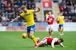 January 26, 2019 - Rotherham, England, United Kingdom - Liam Cooper of Leeds United battles with Jon Taylor of Rotherham United during the Sky Bet Championship match between Rotherham United and Leeds United at the New York Stadium, Rotherham, England, UK, on Saturday 26th January 2019. (Credit Image: © Mark Fletcher/NurPhoto via ZUMA Press)
