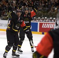 Champions League Ice Hockey, 18. august 2016 ,  Stavanger Oilers v HK Nitra<br />Kristian Forsberg of Stavanger Oilers celebrates scoring v HK Nitra<br />Foto: Andrew Halseid Budd , Digitalsport