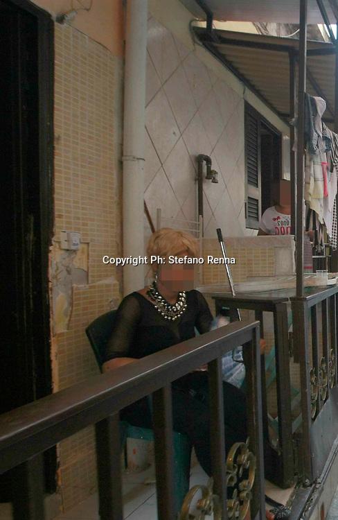 Napoli 26 agosto 2015:<br /> traverse di via carbonara prostituzione nei bassi adibiti a case squillo di e per extracomunitari.<br /> Ph: Stefano Renna