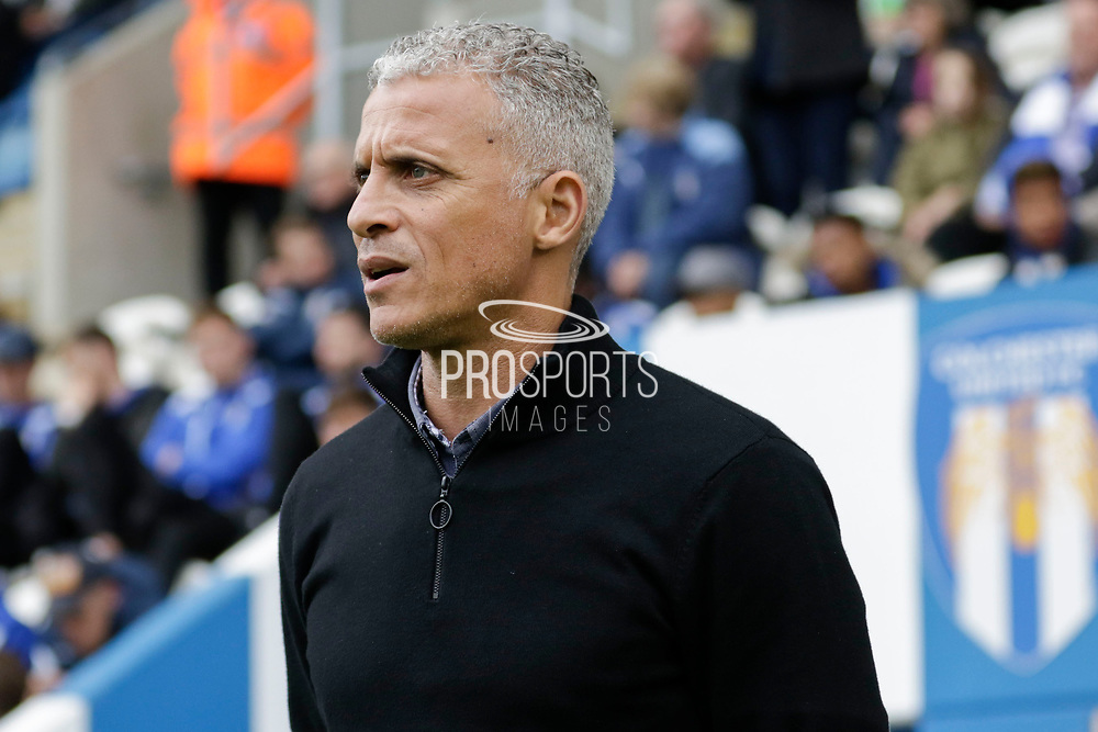 Keith Curle Manager of Carlisle United FC during the EFL Sky Bet League 2 match between Colchester United and Carlisle United at the Weston Homes Community Stadium, Colchester, England on 14 October 2017. Photo by Phil Chaplin