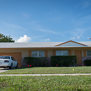 JUNE 25, 2017--DELRAY BEACH, FLORIDA<br /> Halfway house in Delray Beach where  Peter San Angelo, 28, was living prior to his death from an opioid drug overdose on October of 2016. San Angelo was found dead inside a van in a house's driveway not far from here.  <br /> (Photo by Angel Valentin/Freelance)