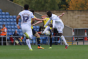 Karleigh Osborne of AFC Wimbledon holds it up during the Sky Bet League 2 match between Oxford United and AFC Wimbledon at The Kassam Stadium, Oxford, England on 10 October 2015. Photo by Stuart Butcher.