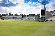 Pavillion view before the Bob Willis Trophy match between Nottinghamshire County Cricket Club and Leicestershire County Cricket Club at Trent Bridge, West Bridgford, United Kingdon on 28 July 2020.