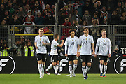 Lukas Podolski of Germany punches the air after his goal 1-0 during the International Friendly match between Germany and England at Signal Iduna Park, Dortmund, Germany on 22 March 2017. Photo by Phil Duncan.