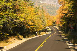 Maine Route 26 in Maine's Grafton Notch State Park.