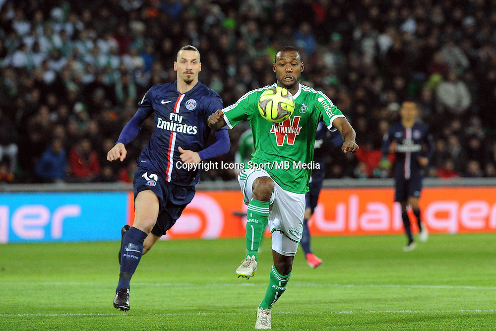 Kevin THEOPHILE CATHERINE - 25.01.2015 - Saint Etienne / PSG  - 22eme journee de Ligue1<br />
