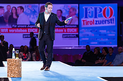 10.01.2018, Congress, Innsbruck, AUT, Landtagswahl Tirol, Wahlkampfauftakt der Tiroler FPÖ, im Bild Markus Abwerzger (Landesparteiobmann FPÖ Tirol) // during the election campaign of the Tyrolean Freedom Party for the forthcoming state election 2018 at the Congress in Innsbruck, Austria on 2018/01/10. EXPA Pictures © 2018, PhotoCredit: EXPA/ Stefan Adelsberger