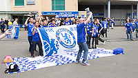 Football - 2014 / 2015 Premier League - Chelsea vs. Sunderland.   <br /> <br /> Chelsea's Hong Kong supporters club enjoy themselves ahead of the game against Sunderland<br /> <br /> COLORSPORT/DANIEL BEARHAM