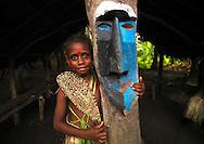 Vanuatu, Malampa Province, Malekula Island, small nambas girl