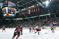 KELOWNA, CANADA - NOVEMBER 1:   The Kamloops Blazers at the Kelowna Rockets on November 1, 2012 at Prospera Place in Kelowna, British Columbia, Canada (Photo by Marissa Baecker/Shoot the Breeze) *** Local Caption ***