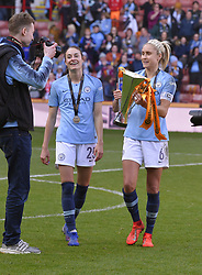 February 23, 2019 - Sheffield, England, United Kingdom - Manchester City Captain Steph Houghton with the League Cup        during the  FA Women's Continental League Cup Final  between Arsenal and Manchester City Women at the Bramall Lane Football Ground, Sheffield United FC Sheffield, Saturday 23rd February. (Credit Image: © Action Foto Sport/NurPhoto via ZUMA Press)