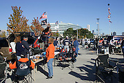 CHICAGO - OCTOBER 16:  General view of the exterior of Soldier Field in the background with fans tailgating in the parking lot prior to the Chicago Bears game against the Minnesota Vikings at Soldier Field on October 16, 2005 in Chicago, Illinois. The Bears defeated the Vikings 28-3. ©Paul Anthony Spinelli