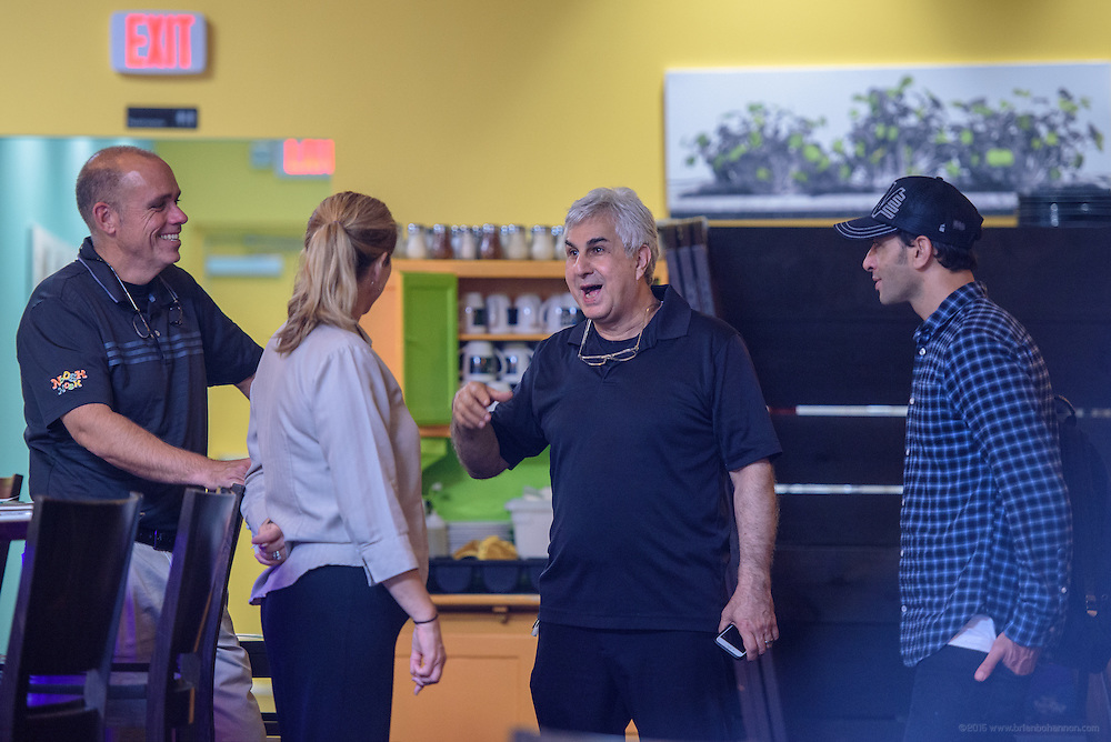 Interview with possible pastry chef at Anoosh Shariat's Anoosh Bistro and Noosh Nosh Monday, Aug. 15, 2016. (Photo by Brian Bohannon)