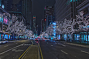 Chicago's Magnificent Mile, Christmas Eve, 2012