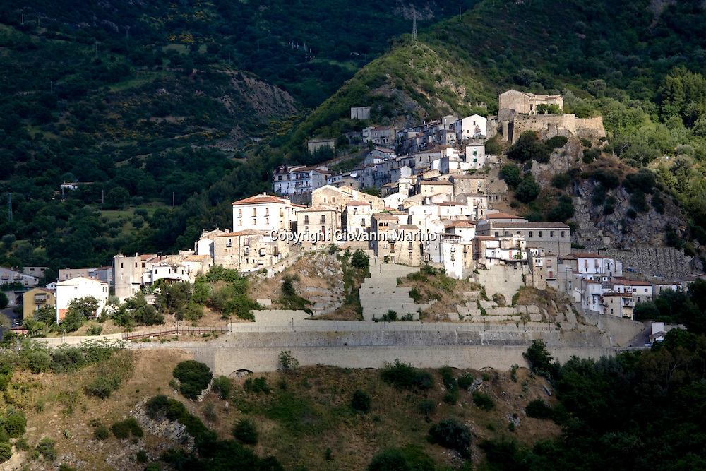 Valsinni/Basilicata/Italy - Valsinni is a village and comune in the province of Matera, in the Basilicata region of southern Italy. The territory of the comune includes the ruins of the ancient city of Lagaria. Its most famous buildings which are part of Valsinni's heritage are: the Castle dating back to the 11th century, where the Italian renaissance poetess Isabella Morra lived and died, the Palazzo Melidoro, Chiesa Madre (mother church) of medieval origins and the Chiesa dell'Annunziata from the sixteen hundreds.