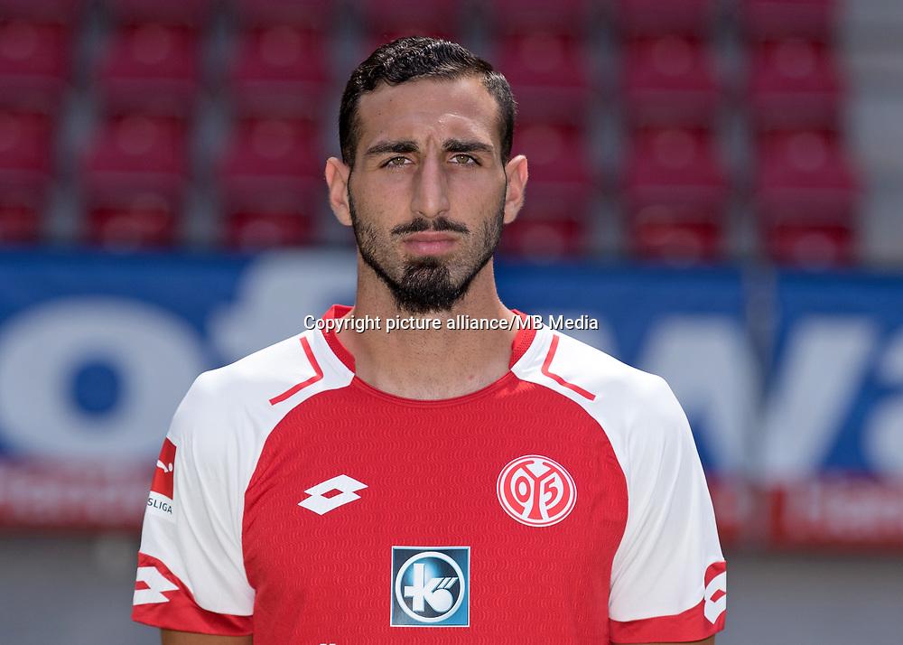 German Bundesliga, offical photocall 1. FSV Mainz 05 for season 2017/18 in Mainz, Germany: Jose Rodriguez. Foto: Thorsten Wagner/dpa   usage worldwide