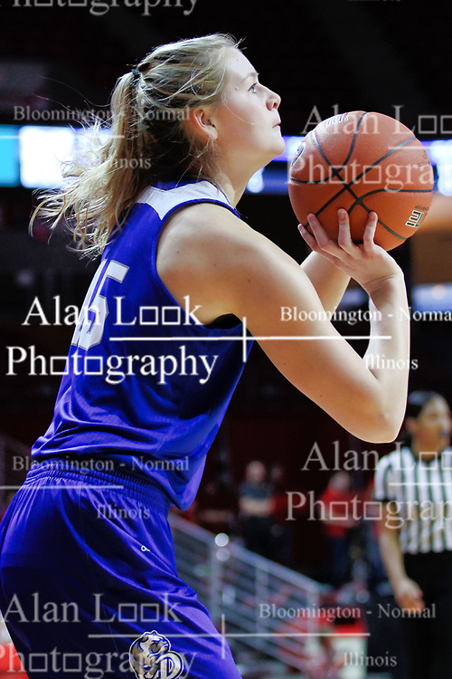 NORMAL, IL - January 06: Allie Wooldridge during a college women's basketball game between the ISU Redbirds and the Drake Bulldogs on January 06 2019 at Redbird Arena in Normal, IL. (Photo by Alan Look)