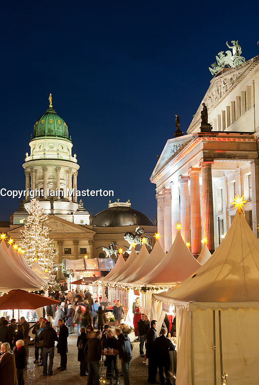 Traditional Christmas market at Gendarmenmarkt in Berlin Germany 2011