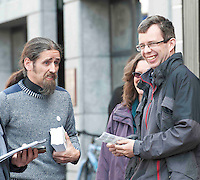 19/05/2014  Gearoid O Connor and Luke Ming Flannagan on the streets in Galway . Photo:Andrew Downes