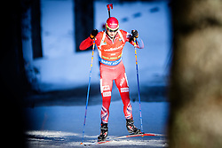 Ole Einar Bjoerndalen (NOR) competes during Men 12,5 km Pursuit at day 3 of IBU Biathlon World Cup 2015/16 Pokljuka, on December 19, 2015 in Rudno polje, Pokljuka, Slovenia. Photo by Ziga Zupan / Sportida