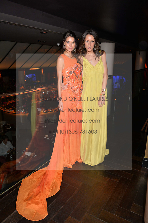 Sarah Ann Macklin and Rosanna Falconer at the Quaglino's Q Legends Summer Launch Party hosted by Henry Conway at Quaglino's, 16 Bury Street, London England. 18 July 2017.<br /> Photo by Dominic O'Neill/SilverHub 0203 174 1069 sales@silverhubmedia.com