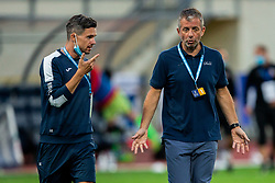 Jan Kosir of Domzale and Dejan Djuranovic, head coach of Domzale during football match between NK Domzale and NK CB24 Tabor Sezana in 31st Round of Prva liga Telekom Slovenije 2019/20, on July 3, 2020 in Sports park, Domzale, Slovenia. Photo by Vid Ponikvar / Sportida