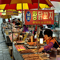Abundant Food Vendors in Busan, South Korea<br />