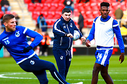 Bristol Rovers coach Kevin Maher watches on during warm-up exercises - Mandatory by-line: Ryan Crockett/JMP - 18/01/2020 - FOOTBALL - Aesseal New York Stadium - Rotherham, England - Rotherham United v Bristol Rovers - Sky Bet League One