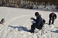 Pocantico Lake Winter - ice fish, XC ski - Feb'15