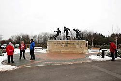 A general view as fans gather beside the Sir Stanley Matthews statue outside the Britannia Stadium - Mandatory byline: Matt McNulty/JMP - 17/01/2016 - FOOTBALL - Britannia Stadium - Stoke, England - Stoke City v Arsenal - Barclays Premier League