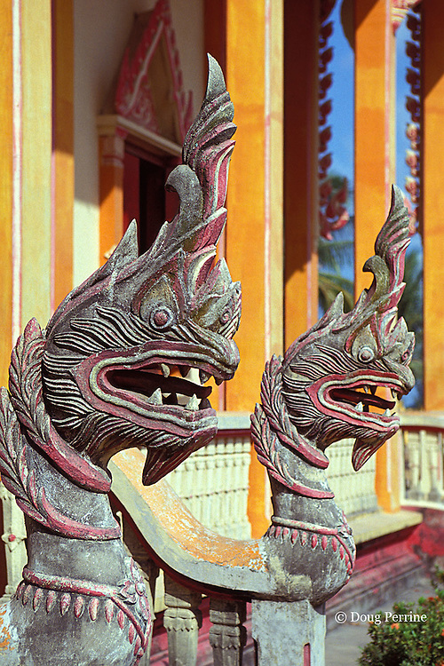 decorations at Wat Chalong, a Buddhist temple in Phuket, Thailand