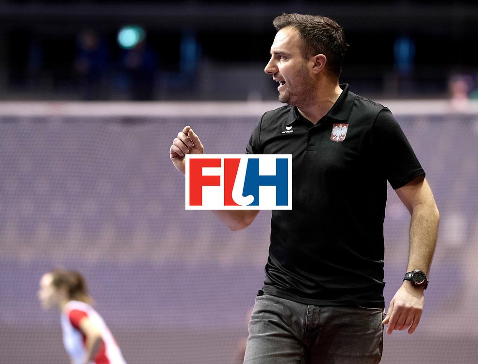 BERLIN - Indoor Hockey World Cup<br /> Women: Poland - Netherlands<br /> foto: RACHWALSKI Krzysztof.<br /> WORLDSPORTPICS COPYRIGHT FRANK UIJLENBROEK