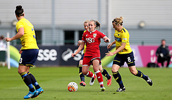 Flo Allen of Bristol City Women runs past Katharine Nutman of Oxford United - Mandatory by-line: Robbie Stephenson/JMP - 25/06/2016 - FOOTBALL - Stoke Gifford Stadium - Bristol, England - Bristol City Women v Oxford United Women - FA Women's Super League 2
