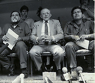 Fotos de Archivo de la Comandancia General del Frente Farabundo Marti (FMLN) durante los anos de la guerra civil. Jorge Schafik Handal, Guillermo Manuel Hungo y Leonel Gonalez. Photo: Imagenes Libres.