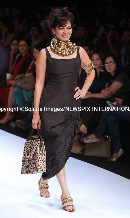 """Mumbai, India-06/03/2012: LAKME FASHION WEEK.Creation from designer Malini Agarwal at the LFW Summer/Resort 2012 fashion collection, during Lakme Fashion Week 2012 in Mumbai, India..Mandatory Photo Credit: ©Ramesh Nair-Solaris Images/NEWSPIX INTERNATIONAL..**ALL FEES PAYABLE TO: """"NEWSPIX INTERNATIONAL""""**..PHOTO CREDIT MANDATORY!!: NEWSPIX INTERNATIONAL(Failure to credit will incur a surcharge of 100% of reproduction fees)..IMMEDIATE CONFIRMATION OF USAGE REQUIRED:.Newspix International, 31 Chinnery Hill, Bishop's Stortford, ENGLAND CM23 3PS.Tel:+441279 324672  ; Fax: +441279656877.Mobile:  0777568 1153.e-mail: info@newspixinternational.co.uk"""